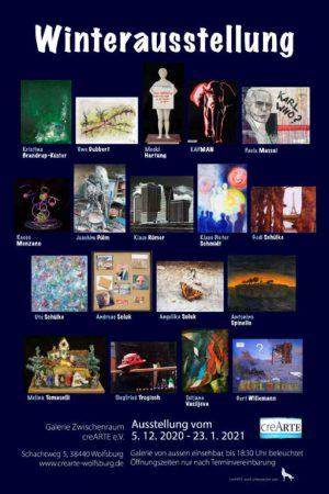 CREARTE e.V. Winterausstellung der Mitglieder 05.12.2020 - 23.01.2021